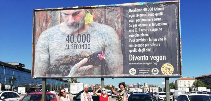 manifesto animalista affisso a Pescara